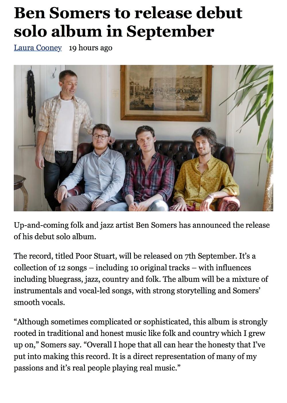 Ben Somers to release debut solo album in September - Entertainment Focus copy.jpg