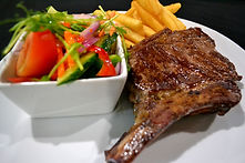 Steak, Salad & Chips