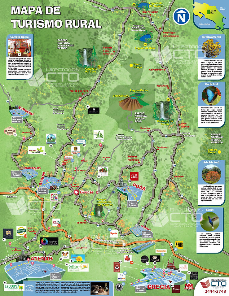 Mapa de turismo Rural