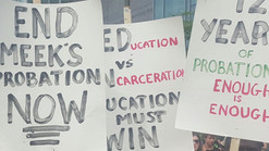 Meek Mill Supporters Protest During The DNC To End His Probation ( Been On Probation For The Same Ca