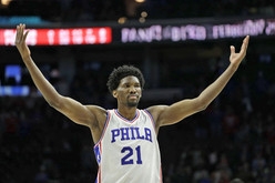 Joel Embiid returns to the court! But its a playground in the middle of South Philly