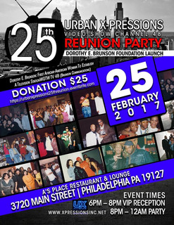 Legendary TV show Urban X-Pressions 25th Anniversary party goes down TONIGHT!  (February 25th)