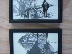 """Expérimenter des formats """"carte postale """" sur  panneaux de bois, naturels ou peints"""