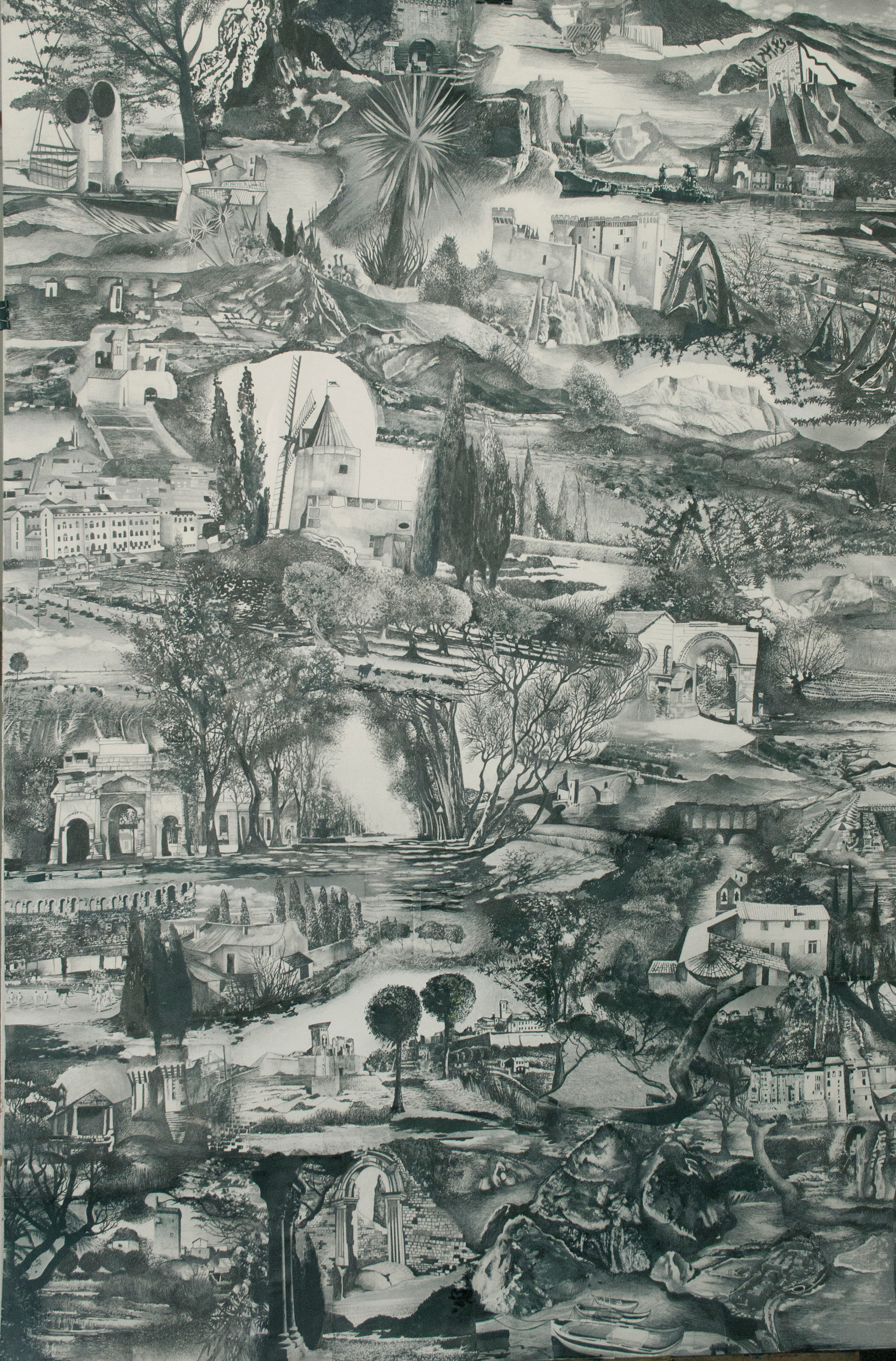 Provence vintage (grisaille)
