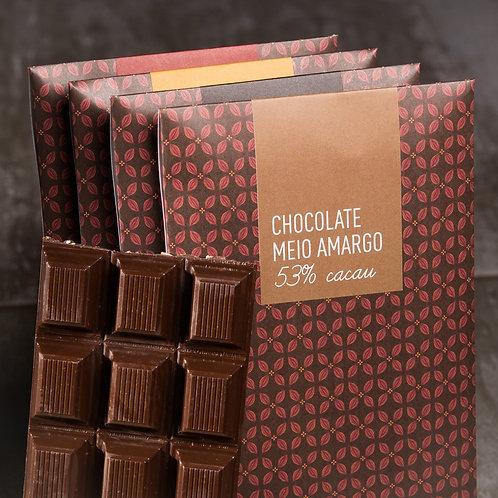 Barras de Chocolate Amargo Sem Leite