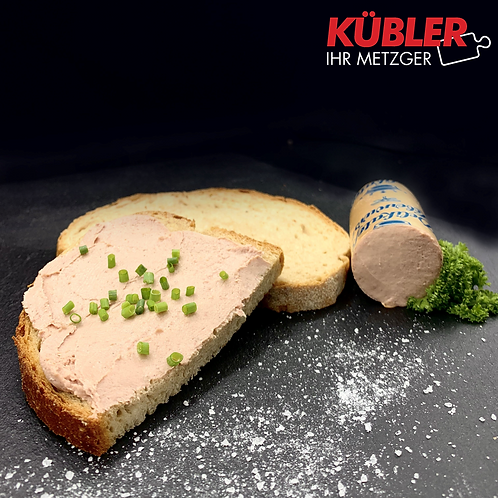 Leberwurst Delikatess im Golddarm