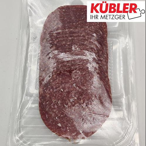 Salami rein Rind geschnitten 100g Packung
