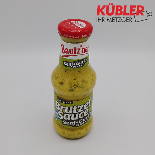 Sauce Brutzelsauce Senf Gurke 250ml Flasche