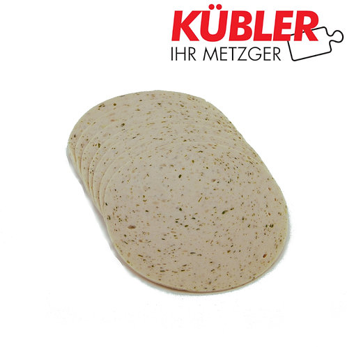 Puten-Kräuter Lyoner geschnitten 100g Packung