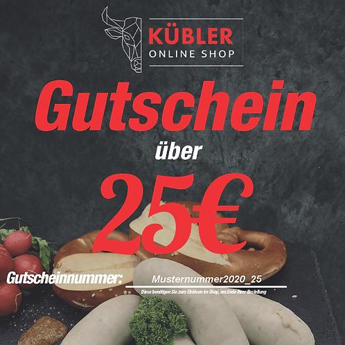 Webshop Gutschein