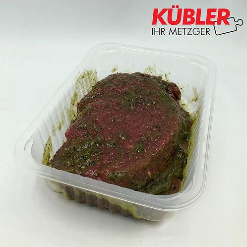 Rinder Steaks aus der Nuss mariniert, 0,5kg