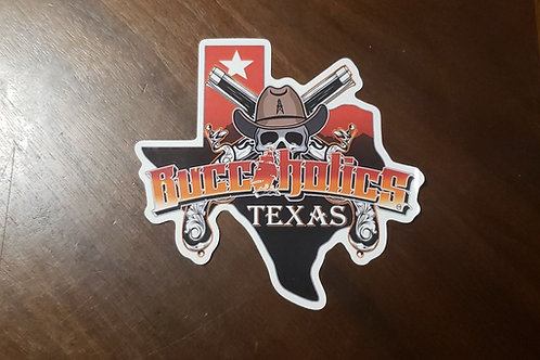 Buccaholics Texas Stickers