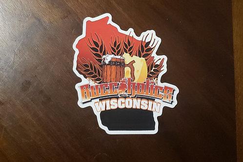 Buccaholics Wisconsin Sticker