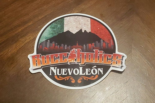Buccaholics Nuevo León MX Sticker