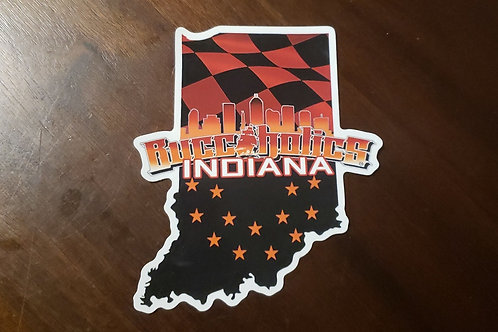 Buccaholics Indiana Sticker