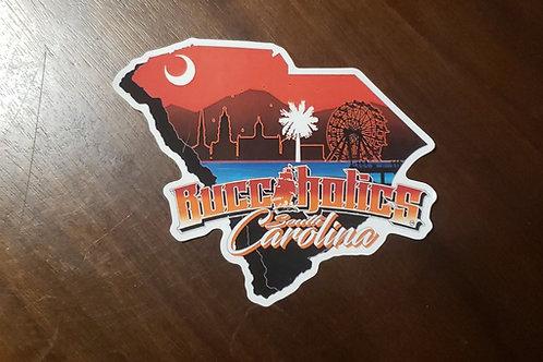 Buccaholics South Carolina Stickers