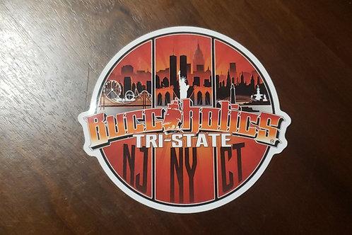 Buccaholics Tri State Sticker