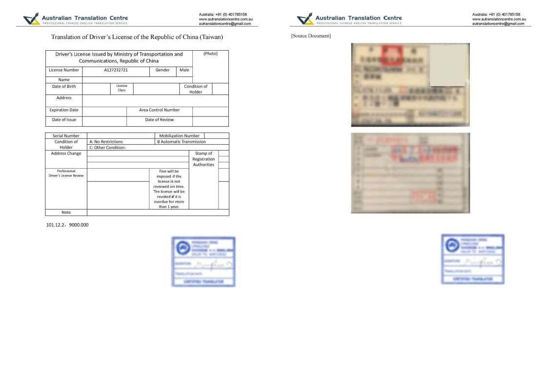Driving License Type II
