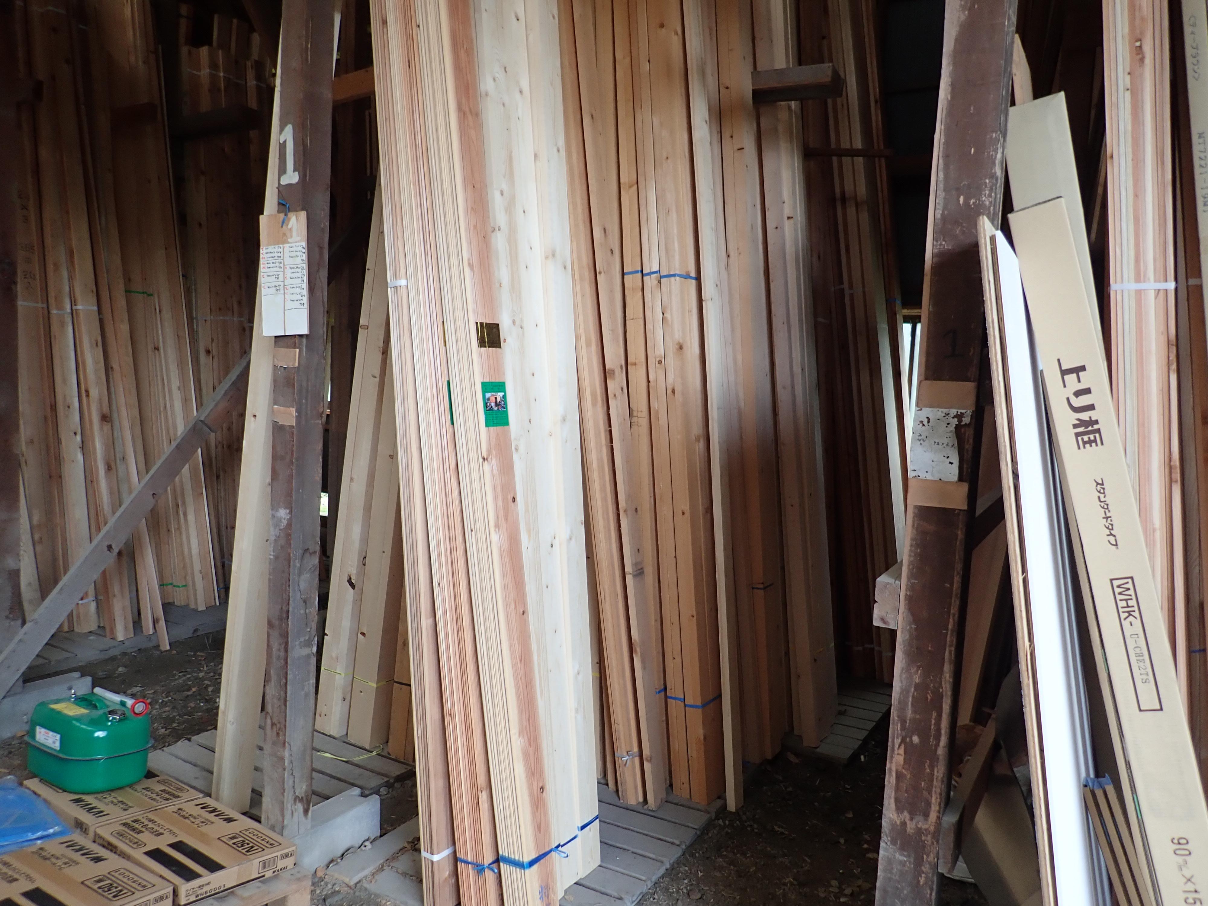 床板、垂木、破風板やその他