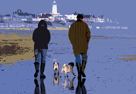 Walking the Dog - Signed Giclée Print