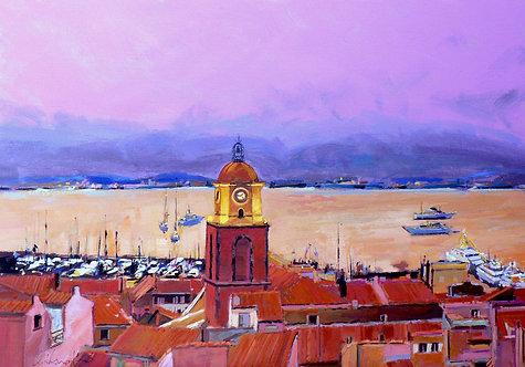 Saint Tropez Dusk - Signed Giclée Print