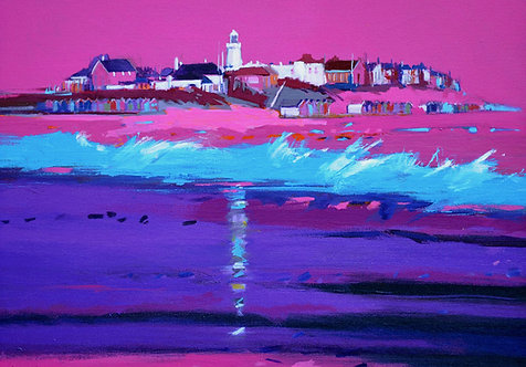 Pink Violet Southwold - Signed Giclée Print