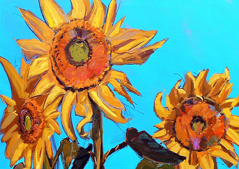 Sunflowers I - Signed Giclée Print
