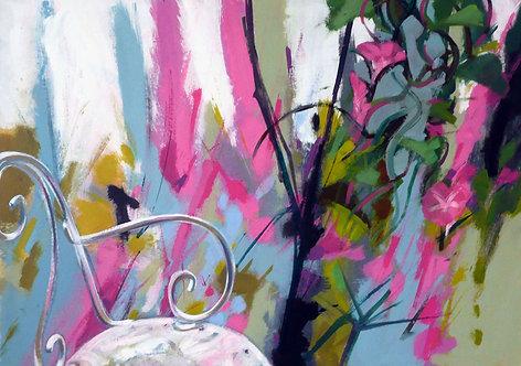 Pink Grey Chair I - Signed Giclée Print