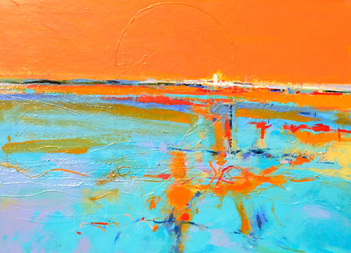 Orange Blue Time - Signed Giclée Print