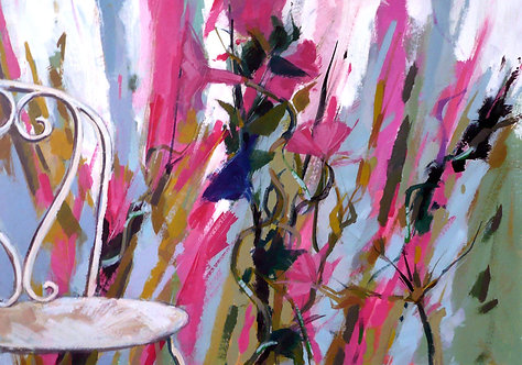 Pink Chair I - Signed Giclée Print