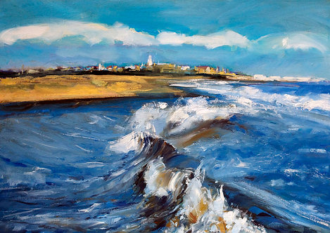 Waves Breaking at Southwold - Signed Giclée Print