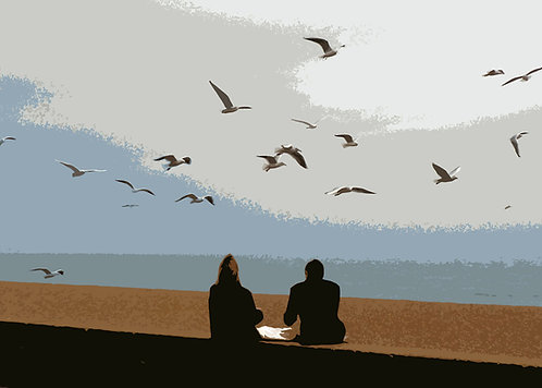 Fish and Chips at Southwold - Signed Giclée Print