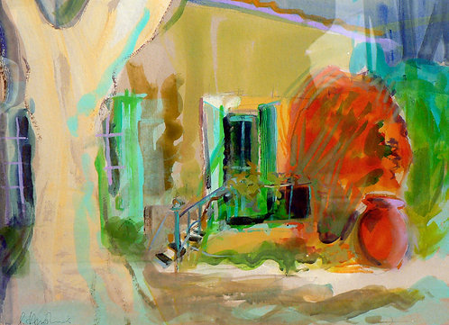 Green Door - Signed Giclée Print