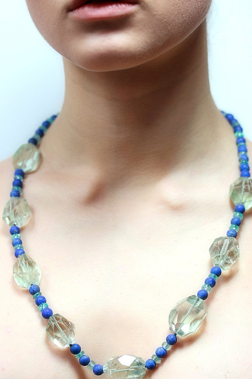 green and blue bead necklace