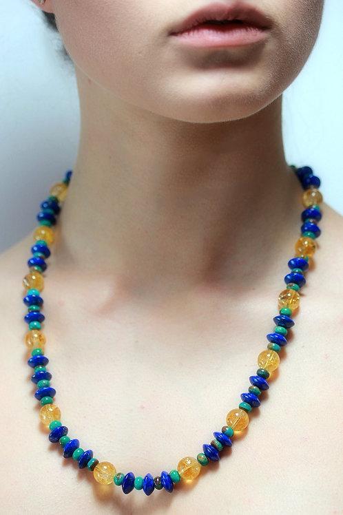 Lapis Lazuli and Citrines