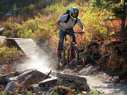 Mountain Biker having fun