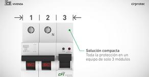 La solución compacta en protección contra sobretensiones ideal para cuadros con espacio reducido