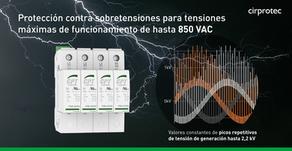 Protección contra sobretensiones para 850Vac, certificado UL 1449