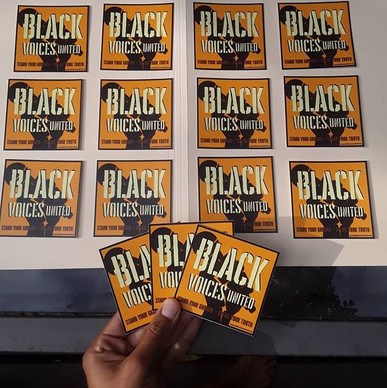 BLACK VOICES UNITED STICKERS AVAILABLE N