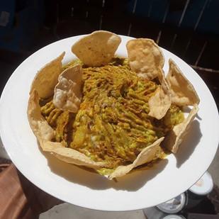 Chunky Soyrizo Guacamole with Tortilla C