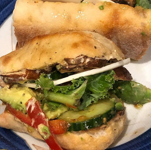 Lunch time 🥗__This delicious veggie sub