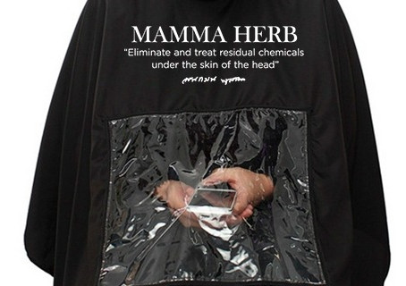 ใหม่ ผ้าคลุมมะมาเฮิร์บ Mamma Herb Apron Black Professional color