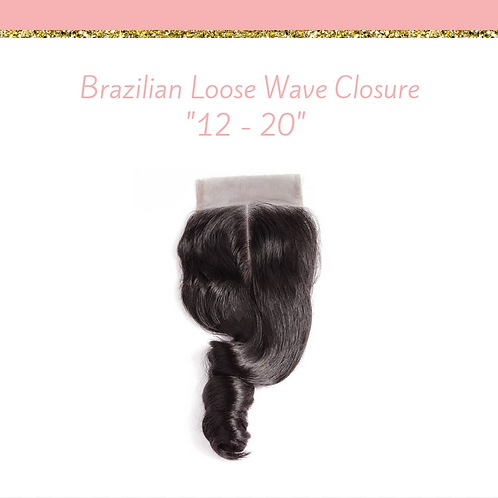 Brazilian Natural Loose Wave Closure