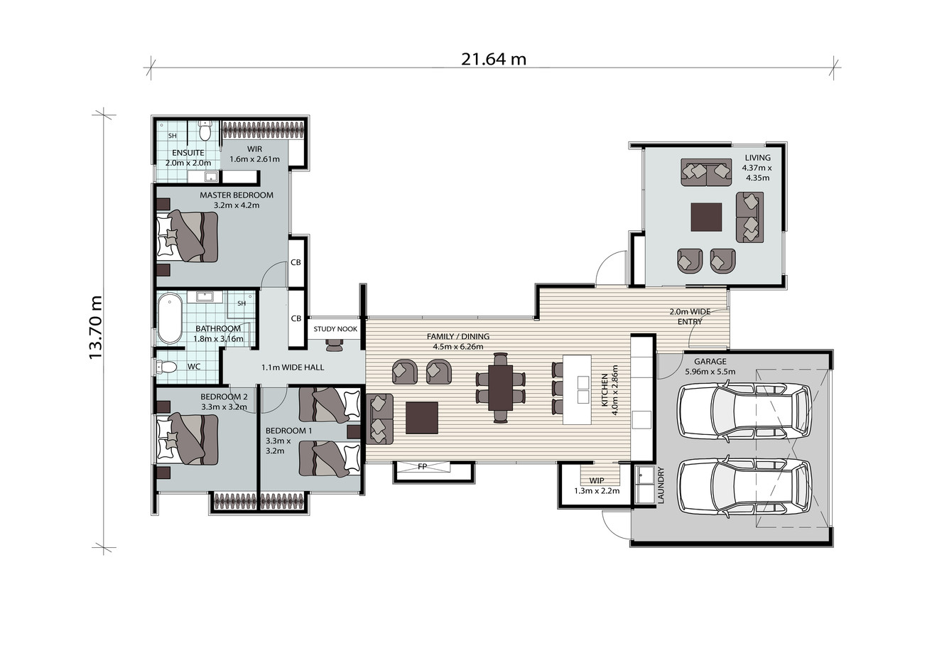 Lot 20 Cloverden Halswell Showhome_Floor