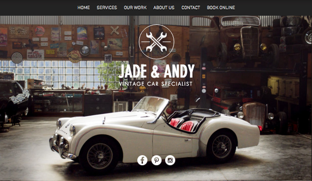 Meest populair website templates – Oldtimergarage