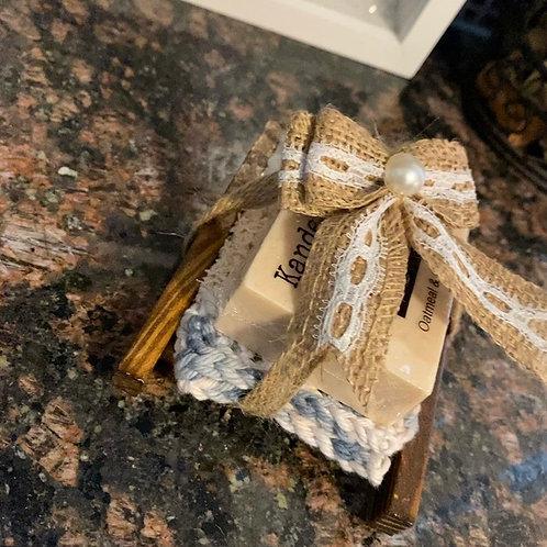 Soap & Scubbie gift set