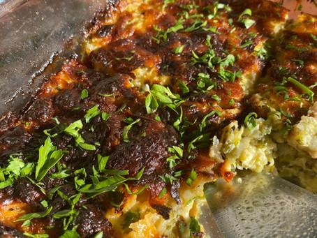 Healthy zucchini casserole