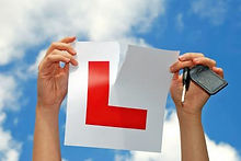 Driving Lessons Tearing L-Plate