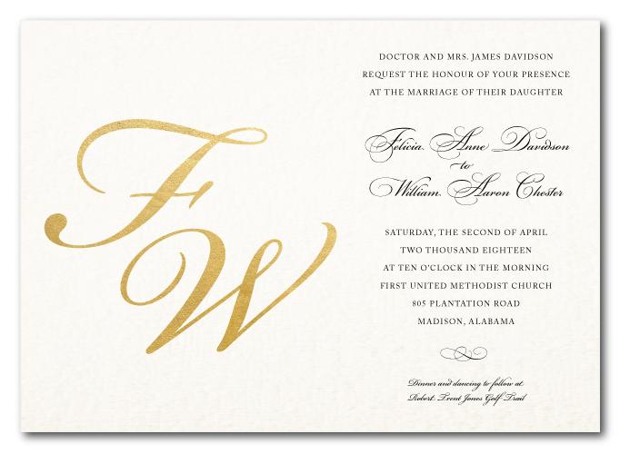 Fine Stationery Wedding Invitations: Wedding Invitations