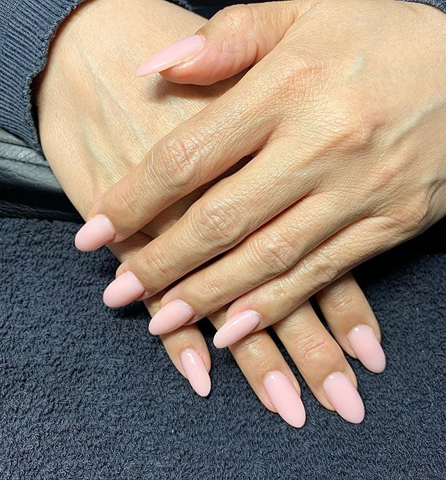 Bio gel overlay with natural pink & OPI
